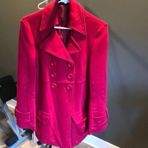 Banana Republic Red pea coat